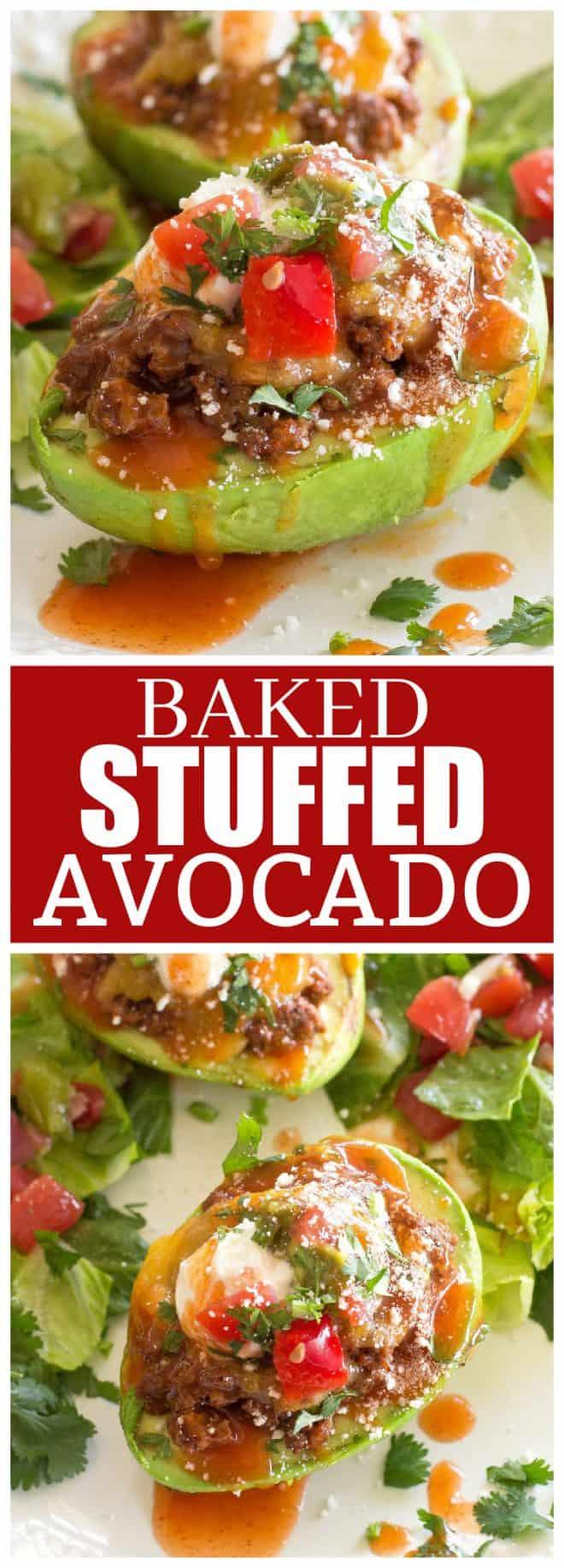 baked stuffed avocado