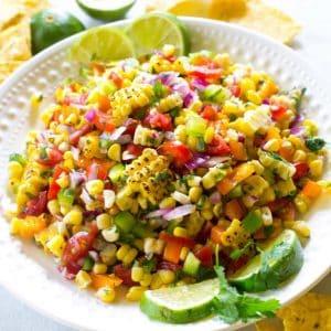 Corn Salsa in a bowl