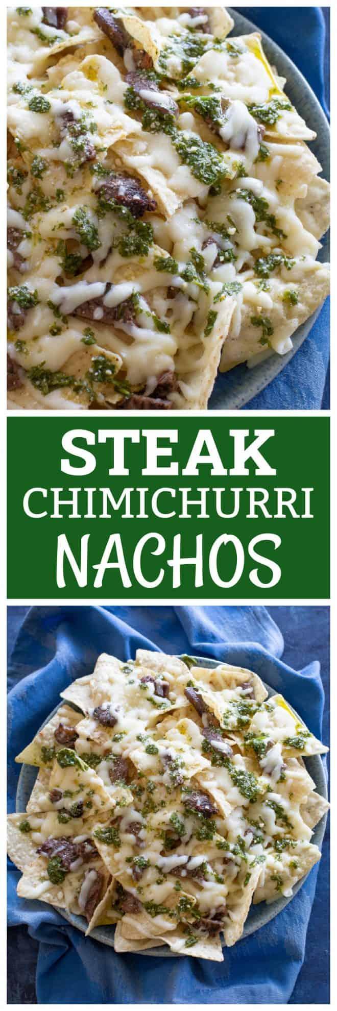 Steak Chimichurri Nachos