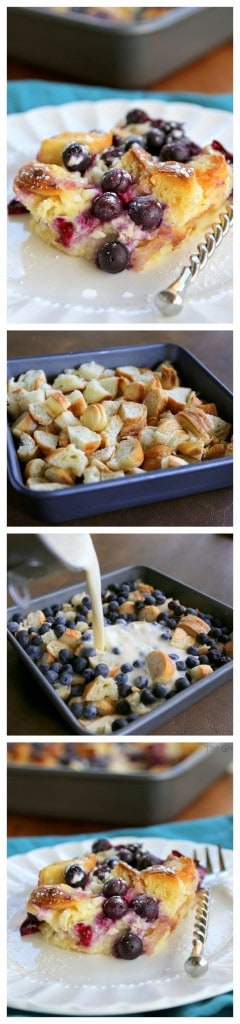 Blueberry Croissant Puff - a delicious overnight breakfast dish that everyone will love. #blueberry #croissant #puff #breakfast #recipe