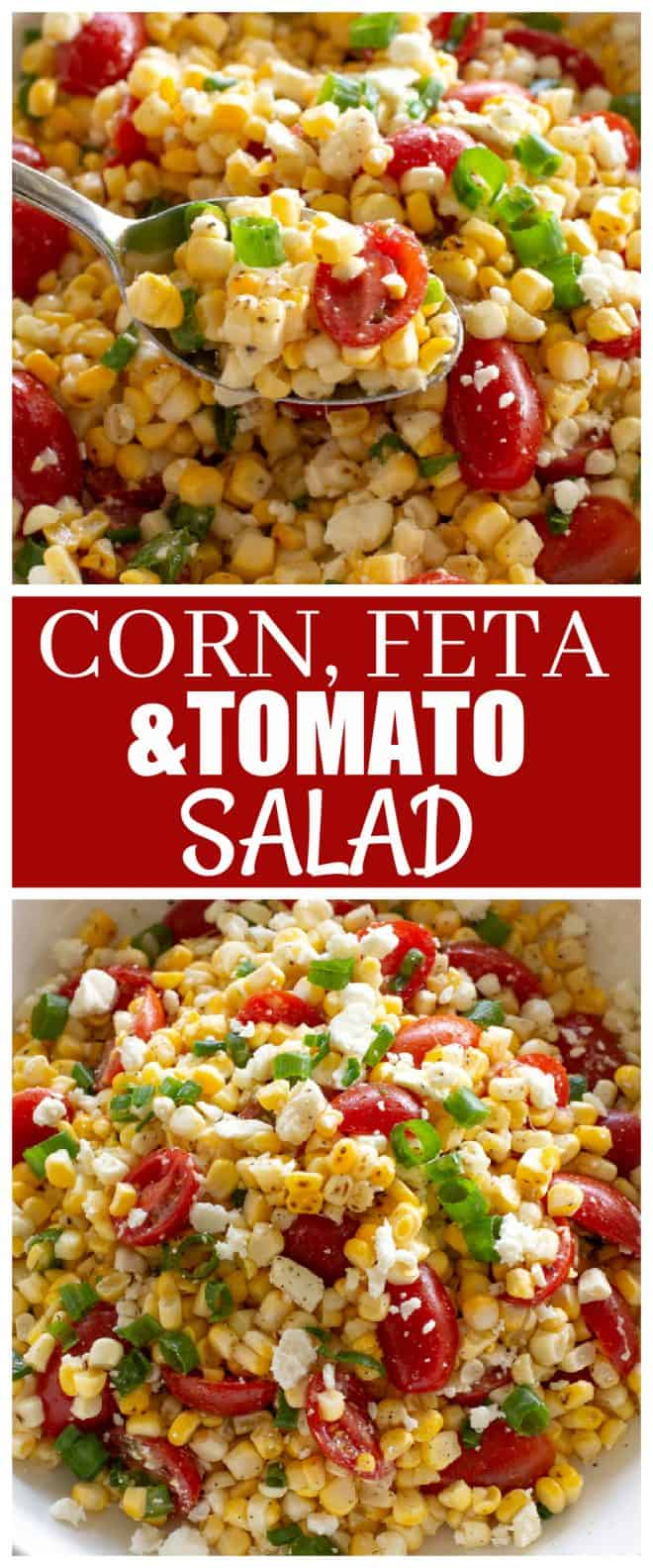 Corn, Feta, and Tomato salad