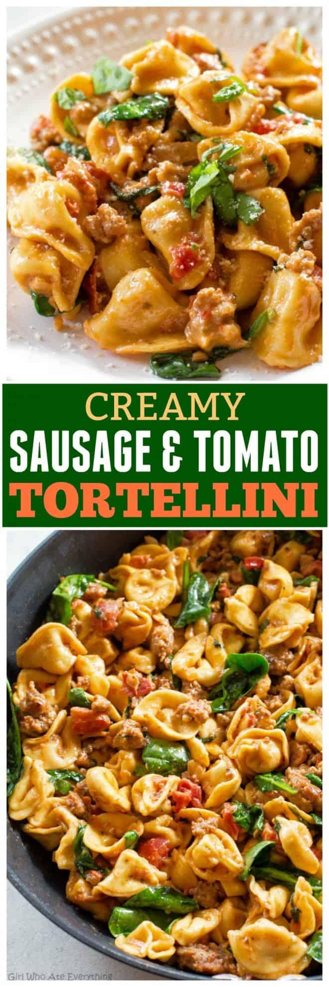 Creamy Sausage and Tomato Tortellini
