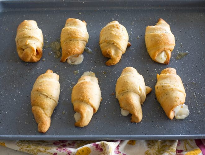crescent rolls on a pan